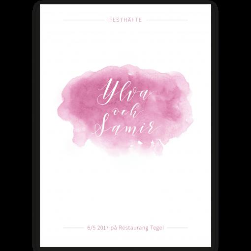 festhäfte akvarell rosa