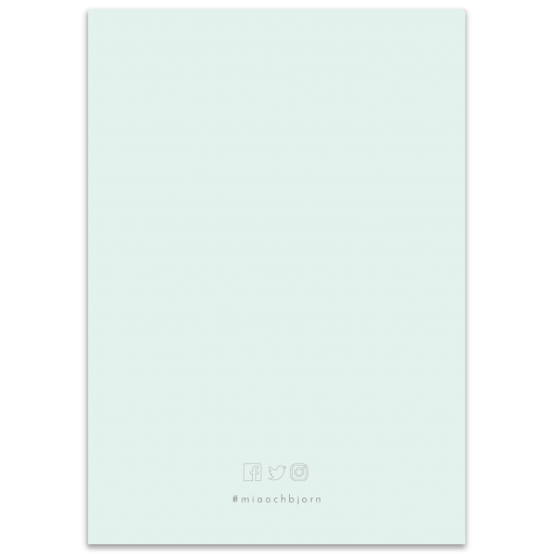 Mint and Dusty Pink_vigselprogram baksida