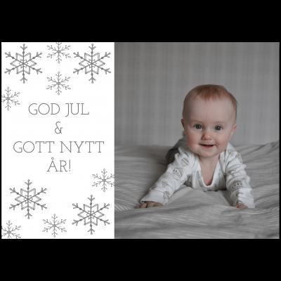 Julkort med foto A6 Saga Snow