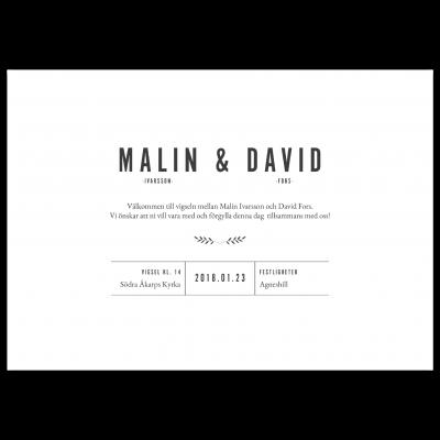 inbjudningskort bröllop perfect grey framsida