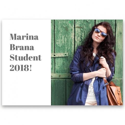 Inbjudningskort student nr 2 Elsa 01