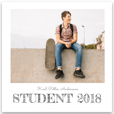 inbjudningskort student Fredericka