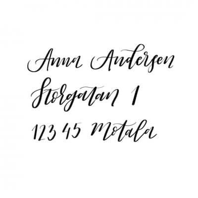 Kalligrafi kuvert bröllop