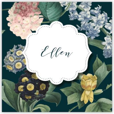 dopinbjudan vintage flowers