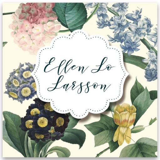 Inbjudningskort dop vintage flowers blonde-01