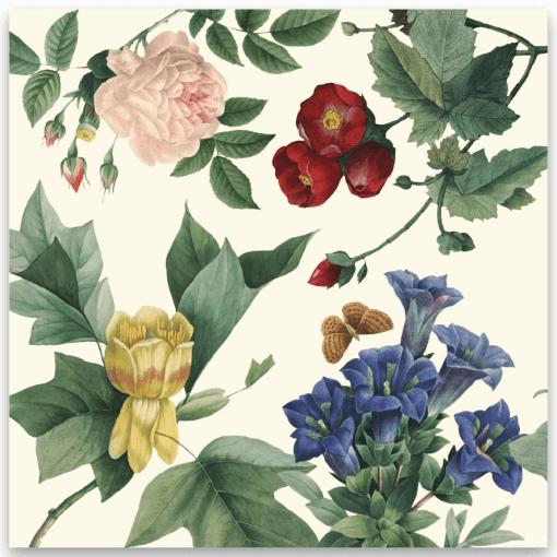 dopkort vintage flowers