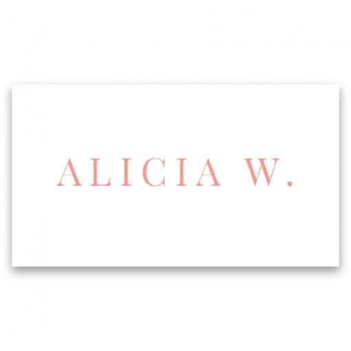 placeringskort blush white