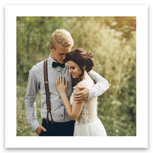 Tackkort till bröllop en bild