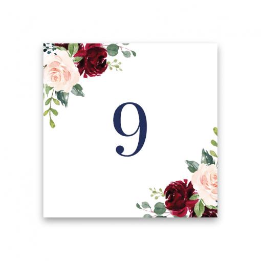 Bordsnummer till bröll'op