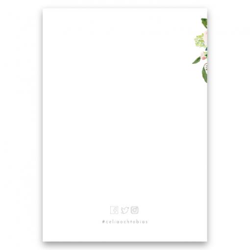 Vigselprogram blush white med rosor