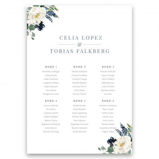 bordsplaceringskarta bröllop