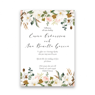 magnolia-rose-bröllopsinbjudan